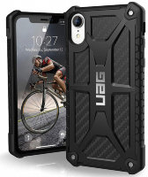 Чехол UAG Monarch series for iPhone XR carbon (111091114242)