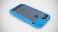 LunaTik чехол SEISMIK iPhone 5/5S (Blue/Blue)
