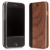 Чехол-книжка Woodcessories WOODEN IPHONE FLIPCOVER для iPhone 7 Plus, Дерево Walnut