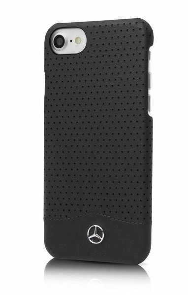 Чехол Mercedes Hard Leather Perforated для iPhone 7, цвет Черный (MEHCP7CSPEBK)