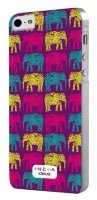 India для iPhone 5/5S Hard Elephants Purple