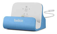 Belkin Charge+Sync Dock Lightning (F8J045btBLU) док-станция для iPhone голубой