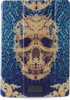 Чехол для iPad Air 2 PURO Just Cavalli Zeta Slim Case Barocco Skull Green