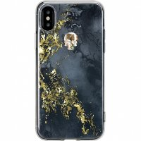 Чехол Bling My Thing Treasure Collection Onyx для iPhone X золотой череп (ipx-tr-bk-gld)
