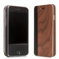 Чехол-книжка Woodcessories WOODEN IPHONE FLIPCOVER для iPhone 7, Дерево Walnut