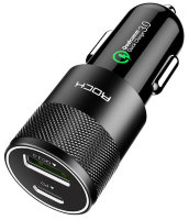 АЗУ Rock H5 PD Fast Charge Car Charger Black (CC003)