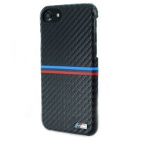 Чехол BMW для iPhone 7 M-Collection Carbon inspiration Hard PU Black