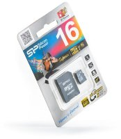 micro SDHC карта памяти Silicon Power 16GB Class10 Superior UHS-I (U3), R/W 90/45 MB/s (с адаптером)