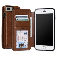 Чехол-книжка Sena Wallet Book Cognac для iPhone 7 Plus коричневый (SFD27906ALUS)