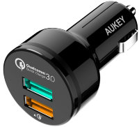 АЗУ Aukey 2 Port Car Charger with Qualcomm Quick Charge 3.0 33 Вт (CC-T7)
